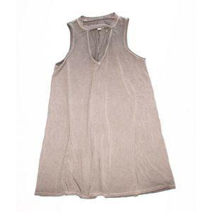 New American Eagle Gray Keyhole Mini Shirt Dress
